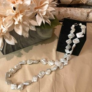 Jewelry - Baroque Freshwater Pearl Long Necklace, White